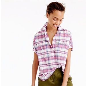 J Crew popover in vintage plaid